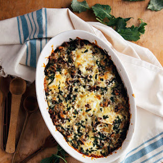 Baked Eggs with Kale and Sausage