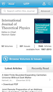 Intl J of Theoretical Physics- screenshot thumbnail