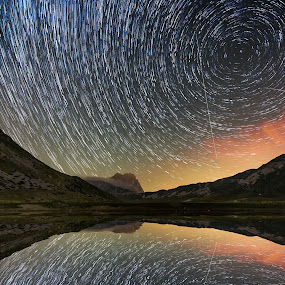 by Marco Carotenuto - Landscapes Starscapes ( startrail, mountain, sky, stars, landscape )