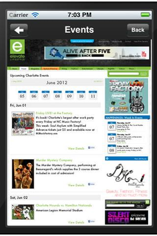 Elevate Lifestyle Mobile APP - screenshot