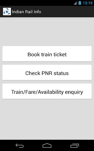 Indian Rail Info Donate