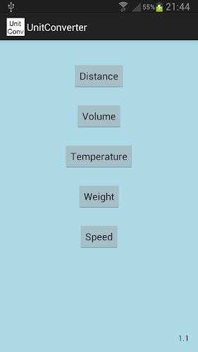 Unit Converter Android App Screenshot