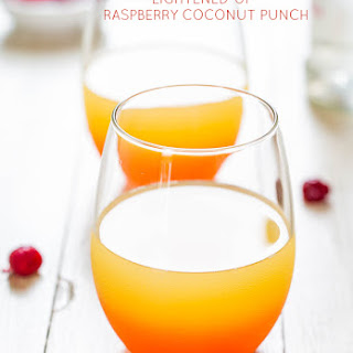 Lightened-Up Raspberry Coconut Punch.
