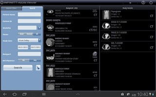 Screenshot of INFINITT Mobile Viewer