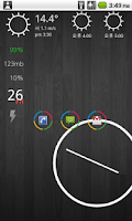 Screenshot of Circles theme for ssLauncher