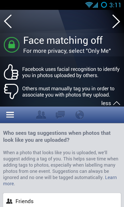 PrivacyFix for Social Networks - screenshot