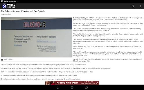 WHSV News - screenshot thumbnail