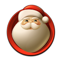 Xmas Santa Clock Widget icon