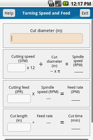 Turning Speed and Feed Calc