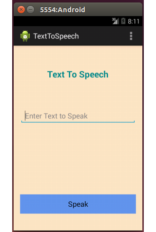 Text to Speech Convertor