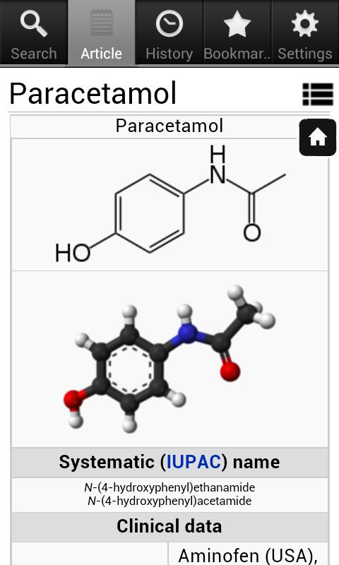 Pharmacology Encyclopedia- screenshot