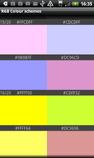 RGB Color schemes- screenshot thumbnail