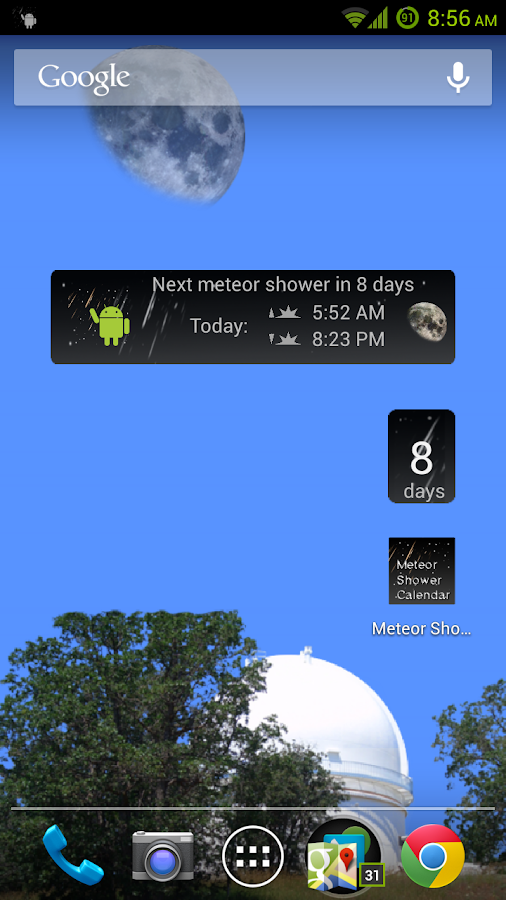 Meteor Shower Calendar- screenshot