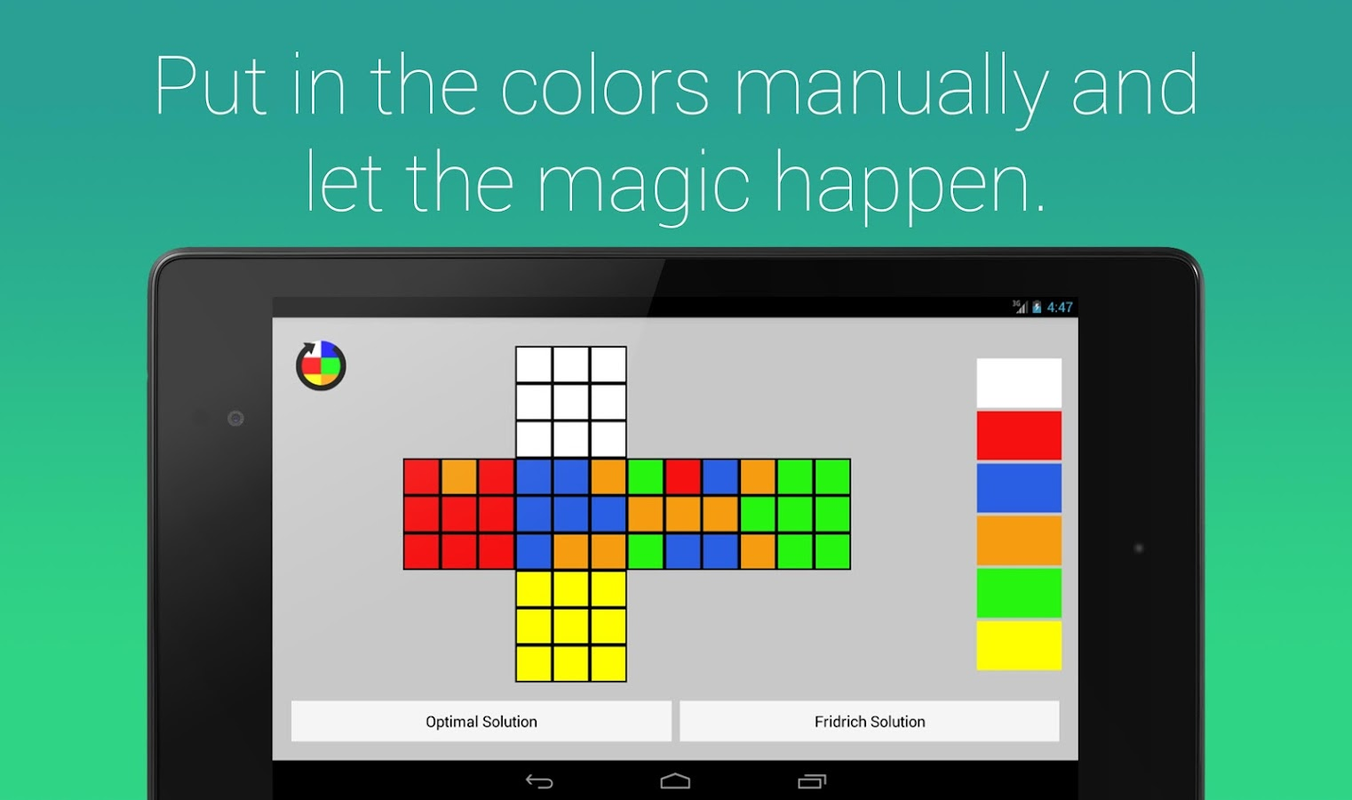 Rubik's Cube Fridrich Solver Screenshot