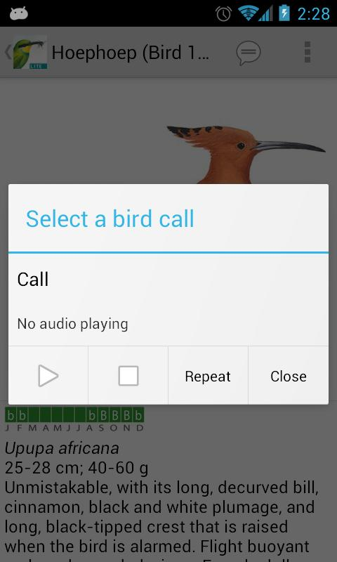 Sasol eBirds (Lite)- screenshot