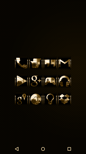 Gold Krome - Icon Pack