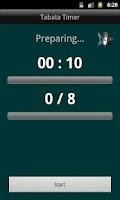 Screenshot of Tabata timer