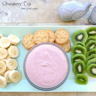 Strawberry Dip from Greek Yogurt