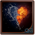 Water and Fire Heart LWP icon
