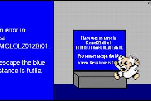 Screenshot of Megaman MSPaint Masterpieces