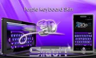 Screenshot of SlideIT Purple 3D Skin