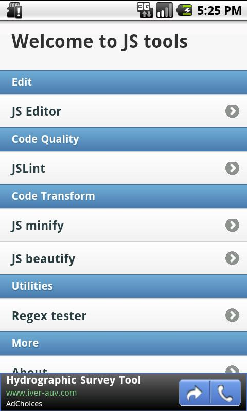 Javascript Tools - Free - screenshot