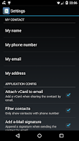 Screenshot of Contactos (share contacts)