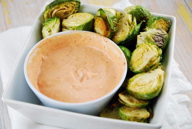 Roasted Brussels Sprouts with Sriracha Aioli Recipe