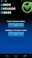 Screenshot of Quick Decision Maker