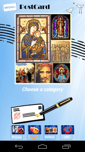 religious letters postcards