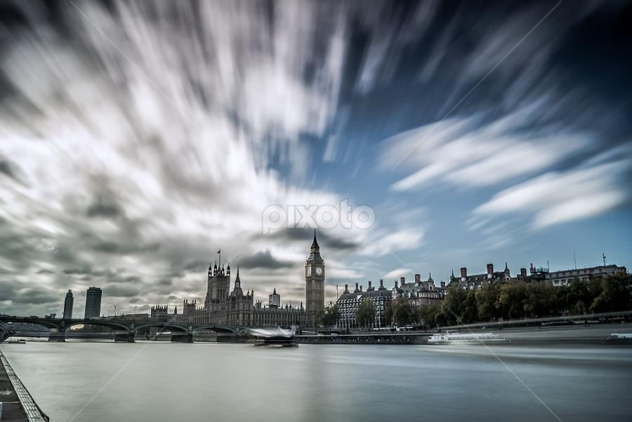 Clouds power -London by Emanuel Fernandes - Landscapes Cloud Formations ( water, clouds, england, london, big ben )