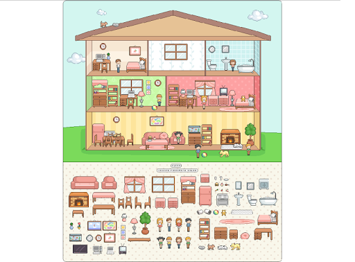 【免費家庭片App】Doll House Japanese Decoration-APP點子