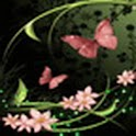 Butterfly And Flower Pink logo