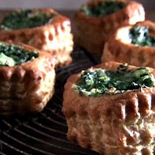 Cheese and Spinach Puff Pastry Pockets.