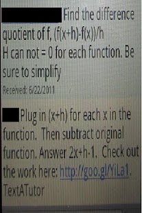 Text A Tutor - Live Math Help - screenshot thumbnail