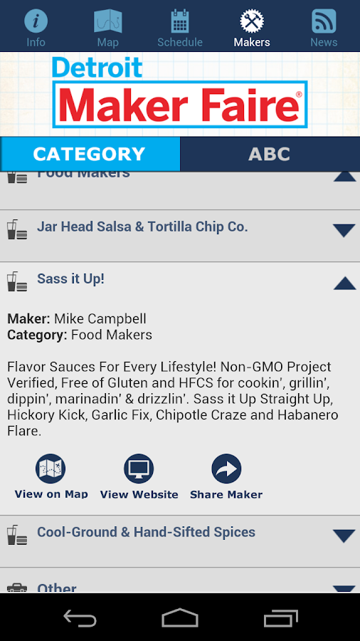 Maker Faire Detroit 2014 - screenshot