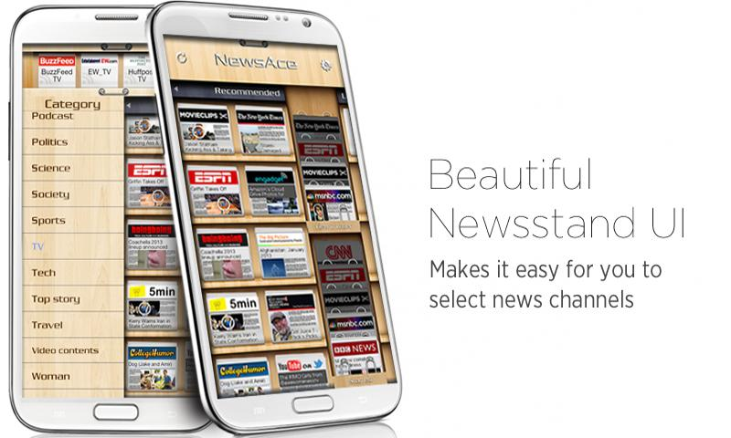 NewsAce - RSS News stand- screenshot