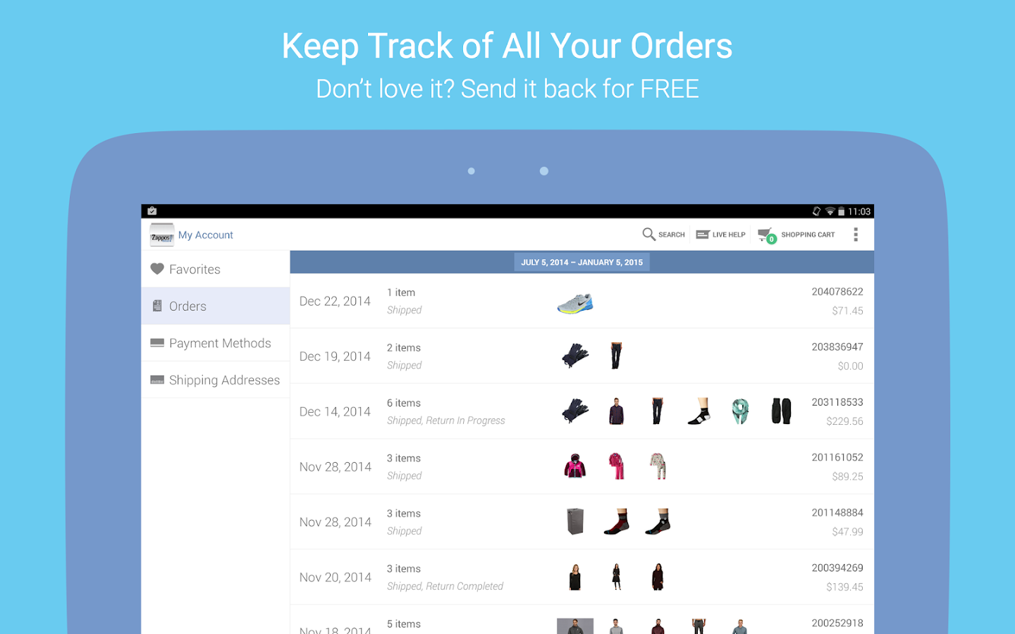 Zappos: Shoes, Clothes, & More - screenshot