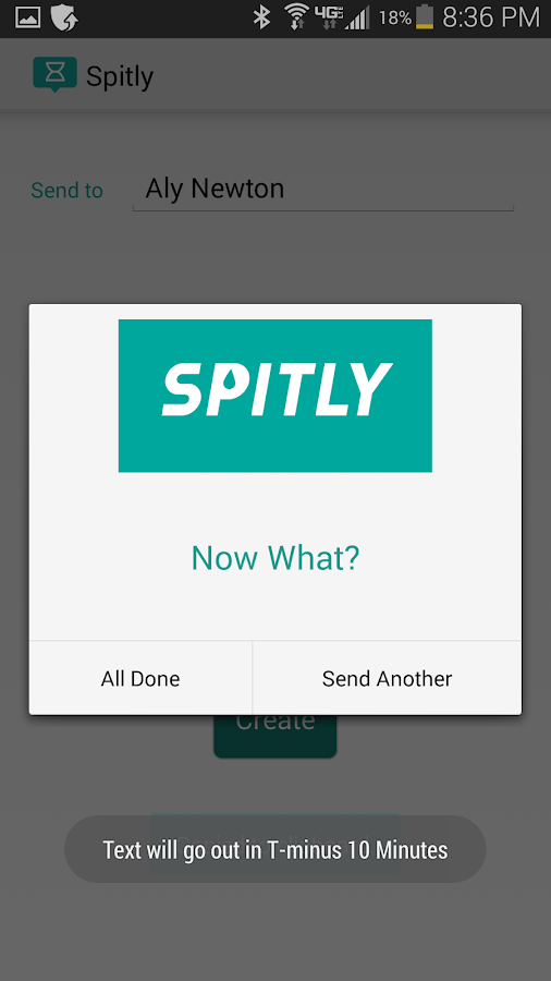 Spitly: Text Message Scheduler- screenshot