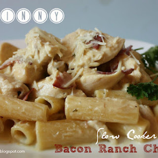 Skinny Slow Cooker Bacon Ranch Chicken.