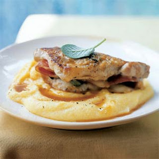Pork Saltimbocca with Polenta.
