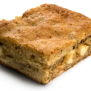 Nutty White-Chocolate Blondies