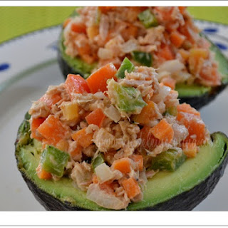 Avocados Stuffed with Tuna Salad.