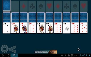 Screenshot of Forty Thieves Solitaire HD