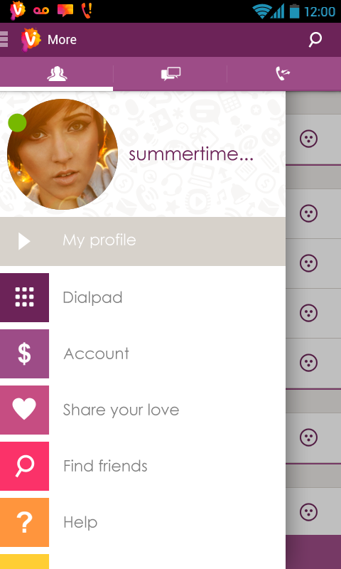 Vippie - free calls & messages- screenshot