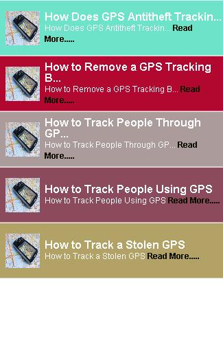 Navigation GPS Tracking