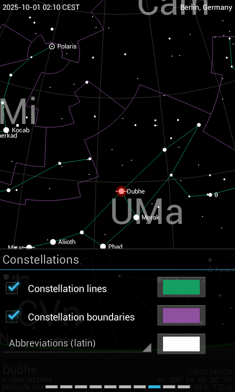 Sky Guide Android 3