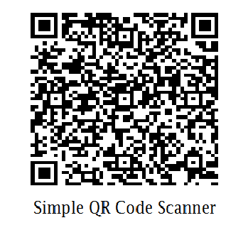 Simple QR Code Scanner