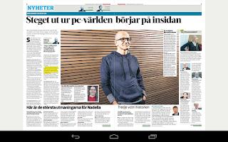 Screenshot of Computer Sweden Tablet
