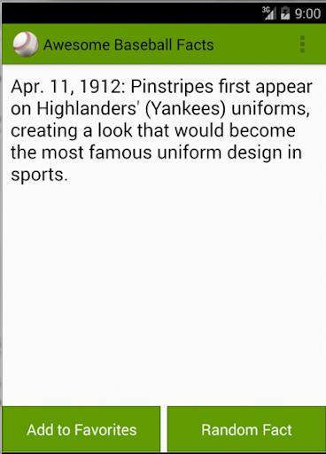 Awesome Baseball Facts